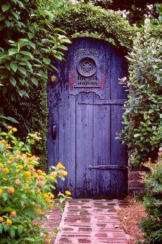 Garden Gate Once Upon A Time Secret Garden Door Purple Door Cool Doors, The Doors, Unique Doors, Windows And Doors, Entry Doors, Door Entryway, Secret Garden Door, Garden Doors, Garden Gates