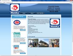 Website Design for Husky on 107 street, Edmonton, Alberta.