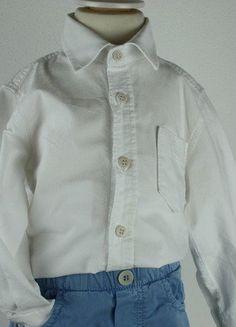 Kaufe meinen Artikel bei #Mamikreisel http://www.mamikreisel.de/kleidung-fur-jungs/langarm-hemden/31294438-il-gufo-sehr-edles-hemd-weiss-gr80-18m-np76eu