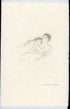 After love - Marcel Duchamp, etching with aquatint; 1968. From the series 'The Large Glass and Related Works, with Nine Etchings by Marcel Duchamp on the Theme of the Lovers'