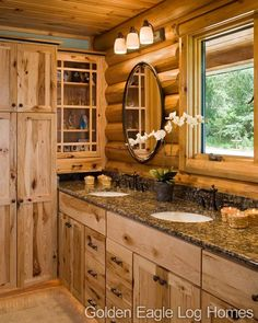 Beautiful master bathroom cabinetry.                              …
