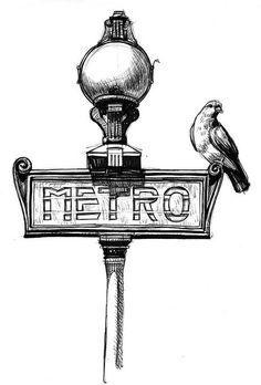 paris metro sketch