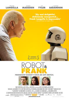 Set in the near future, Frank, a retired cat burglar, has two grown kids who are concerned he can no longer live alone. They are tempted to place him in a nursing home until Frank's son chooses a different option: against the old man's wishes, he buys Frank a walking, talking humanoid robot programmed to improve his physical and mental health. What follows is an often hilarious and somewhat heartbreaking story about finding friends and family in the most unexpected places.