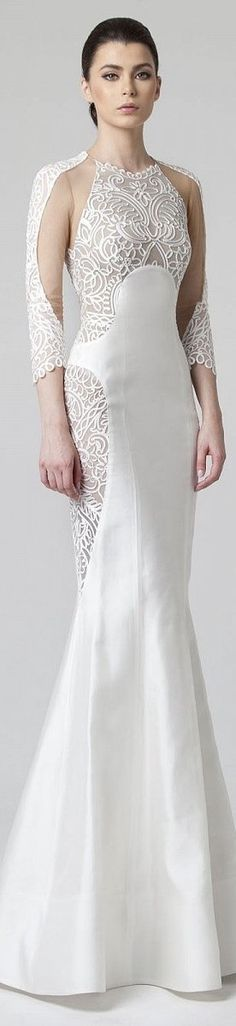 Rani Zakhem, designer, lacey nude illusion WEDDING GOWN.  Enjoy RUSHWORLD boards, WEDDING GOWN HOUND and UNPREDICTABLE WOMEN HAUTE COUTURE. Follow RUSHWORLD! We're on the hunt for everything you'll love!