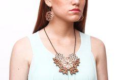 FLORA leather necklace