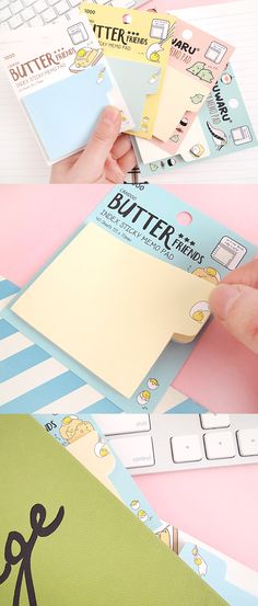 The Sushi & Butter Index Sticky Note is the cutest way to make sure your notes and pages are tabbed and ready to go! Check them out!