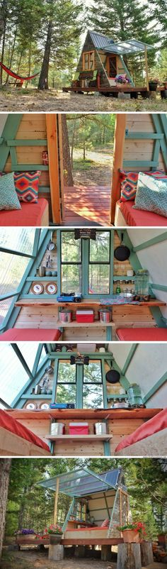 An A-frame cabin that was built for just $700!