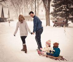 Family sled rides