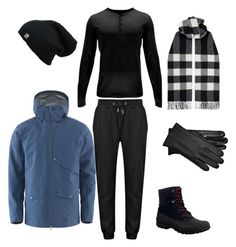 """Fang winter"" by ana-vivier ❤ liked on Polyvore featuring Sperry, Burberry, Haglöfs, UGG, Spyder, men's fashion and menswear"