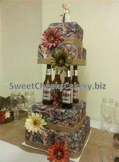 Camo Wedding Cakes Brown Themed