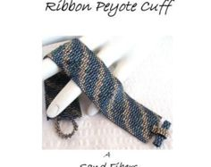 Peyote Pattern - Two Color Bargello Ribbon Peyote Cuff / Peyote Bracelet - A Sand Fibers For Personal Use Only PDF Pattern - 3 for 2