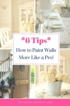 Paint Walls Like a Pro: DIY Help on Hello Lovely Studio. #hellolovelystudio #diy #painting #howtopaintwalls Best White Paint, White Paint Colors, Best Paint Colors, White Paints, Painting Walls Tips, Interior Painting, Diy Interior, Interior Design Tips, Farmhouse Stools