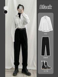 Korean Girl Fashion, Ulzzang Fashion, Korean Street Fashion, Kpop Fashion Outfits, Korea Fashion, Tomboy Fashion, Streetwear Fashion, Fashion Skirts, Fashion Hacks