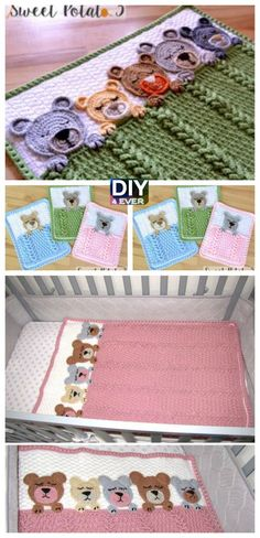 Sleep Tight Teddy Bear Blanket – Free Pattern #free pattern