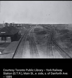 York Railway Station (Grand Trunk Railway), Main Street, east side, south of Danforth Avenue, 1889 Back In Time, Old City, East Side, Main Street, Toronto, Maine, Canada, York, Landscape