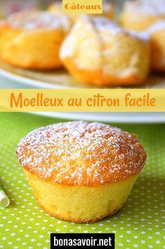 Moelleux au citron facile – Page 2 – Bon À Savoir Lemon Torte, Hamburger, Brunch, Bread, Breakfast, Food, Cheesecakes, Buffet, Fitness