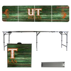 University of Texas Dallas Comets 8 Foot Portable Tailgate and Pong Table