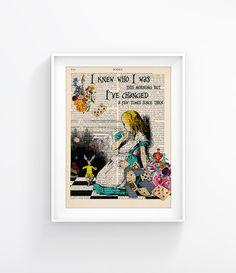 Vintage Illustration Print Decorative Art Book Page by CatchyD