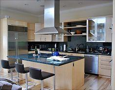 San Francisco Marina Maple veneer contemporary kitchen