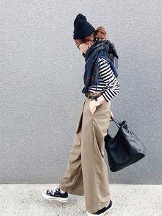 recaのストール/スヌード「【reca大人気アイテム】チェック柄大判ストール」を使ったSIZUのコーディネートです。WEARはモデル・俳優・ショップスタッフなどの着こなしをチェックできるファッションコーディネートサイトです。
