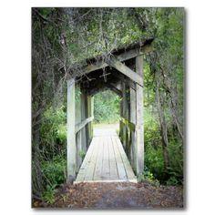 Wooden Bridge Postcard