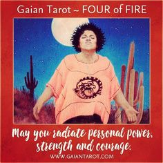 For the Full Moon in Leo / Lunar Eclipse ... May you radiate personal power strength and courage.  #gaiantarot #tarot #gaianblessings #tarotreadersofinstagram