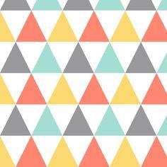 strawberry_mint_lemon triangles fabric by oleynikka on Spoonflower - custom fabric