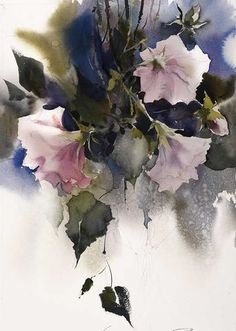 Floral art / The Watercolour Log: Watercolour Paintings 44 Watercolor Artists, Watercolor Landscape, Abstract Watercolor, Watercolour Paintings, Watercolour Techniques, Watercolours, Abstract Flowers, Watercolor Flowers, Arte Floral