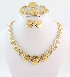 fashion necklace set african costume jewelry set gold plated bridal jewelry set