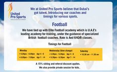 Finished school? Head straight to #UnitedProSports for our 4 to 6 or 7 to 14 age #Football #classes.  Teach your #children the skills they need to #succeed in #life  #sports #AfterSchool #Fitness