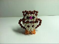 Hướng dẫn kết chim Cú mèo hạt cườm - the Owl (1/2) - YouTube