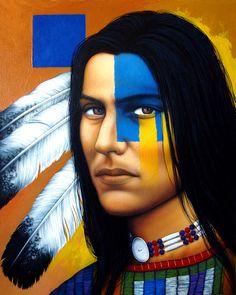 Nativeamericanwarriors red road warrior detail painting by ericschwiegfanleswordpress young man fandeluxe Gallery
