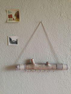 Hanging Birch Branch  key hanger jewelry display by shtickbaby