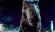 Rexy her gratitude is letting Blue  live FRIENDS Jurassic World