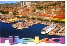 Rijeka in Primorsko-Goranska Županija Four Square, Places To Travel, City Photo, River, World, Postcards, Outdoor, Beautiful, Outdoors