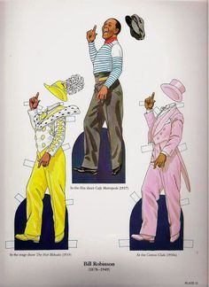 Great Black Entertainers - Onofer-Köteles Zsuzsánna - Picasa Webalbum* 1500 free paper dolls at artist Arielle Gabriel's International Paper Doll Society also her new memoir The Goddess of Mercy & the Dept of Miracles playing with paper dolls in Montreal *
