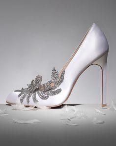 For my Wedding - Manolo Blahnik Swan Embellished Satin Pump