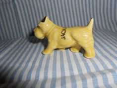 Glass Terrier Souvenir From Jacksonville Fla. by beth31768 on Etsy