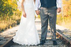 Truth & Tales - destination wedding - Grand Bend - Bride & Groom - Portraits - train tracks