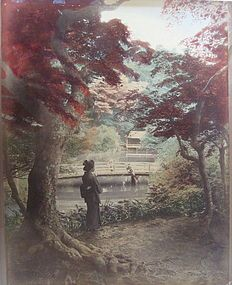 Antique hand-tinted photograph