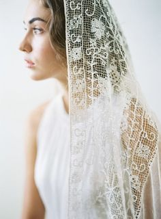 Nontraditional Wedding Veils for the Fashion-Forward Bride Bridal Lace, Bridal Style, Chapel Length Veil, Crochet Wedding, Nontraditional Wedding, Blue Wedding Dresses, Bohemian Bride, Wedding Veils, Wedding Hair