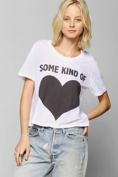 Feather Hearts Some Kind Cropped Tee