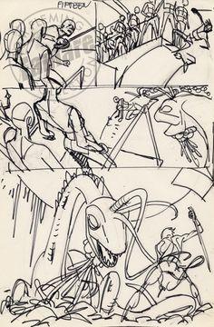 Gil Kane John Carter, Warlord of Mars #4, Page 15 (Prelim) Comic Art