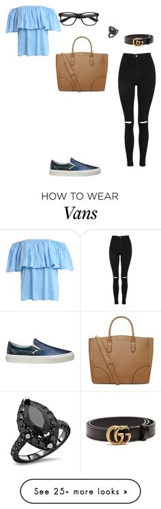 """""""Untitled #3743"""" by anamaria-zgimbau on Polyvore featuring Vans, Topshop, Dorothy Perkins and Gucci"""