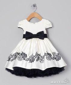 Designer Kids dresses white-black