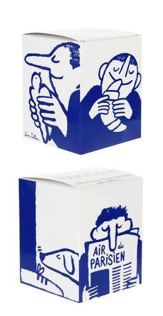 Cool design - blue illustration on a box