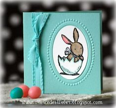 cute 3 x 3 Easter card Stampin' Up!