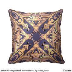 Beautiful complicated  moroccan ornament pillow make interior unique and add aesthetics sense. Ornament create in oriental tradition. #Home #decor #Room #Interior #decorating #Idea #Styles