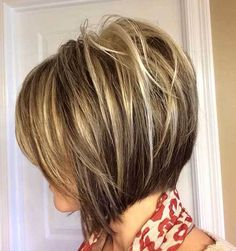 Highlighted Inverted Layered Bob Hairstyle