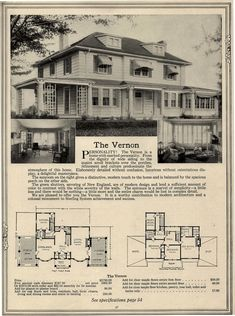 The Vernon ~ An open porch on one side, a sun~room on the other.  Nice.